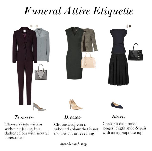 Funeral Attire Etiquette by diane-howard-image on Polyvore                                                                                                                                                                                 More