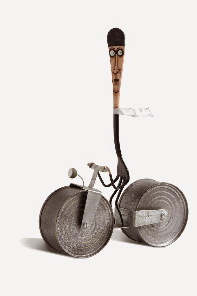 Pinzellades al món: Gilbert Legrand: il·lustracions en objectes quotidians