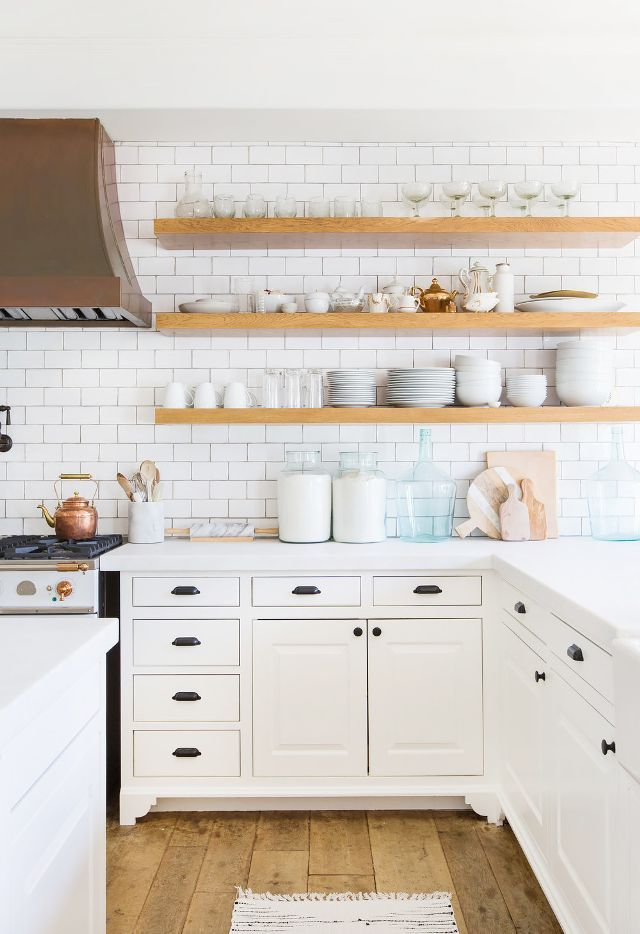 If we had to pick one room in Lauren Conrad's home that gave us butterflies, it's her dreamy country kitchen. The wall of subway tiles, the open shelving, and the La Cornue range is all...