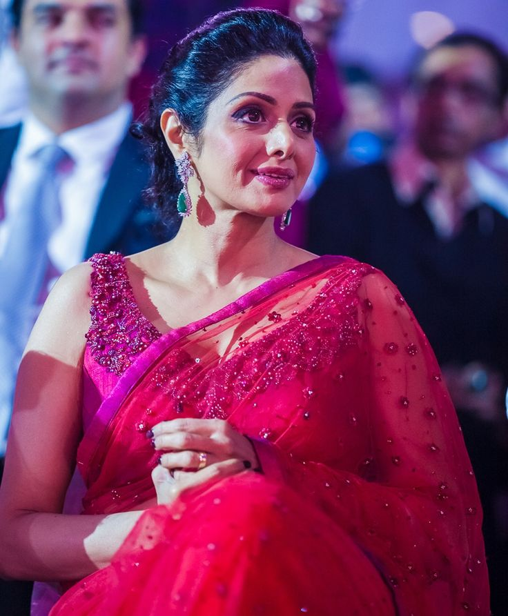 Actress Sri Devi at South Indian International Movie Awards 2013 (16) at Sridevi In Red Saree and Sleeveless Blouse at SIIMA #ActressSridevi #AuntyActress #SIIMA #SIIMAAWARDS