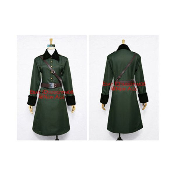 APH Axis Powers Hetalia Belarus Army Cosplay Costume via Polyvore featuring costumes, army halloween costumes, animal halloween costumes, cosplay costumes, animal costumes and army costume
