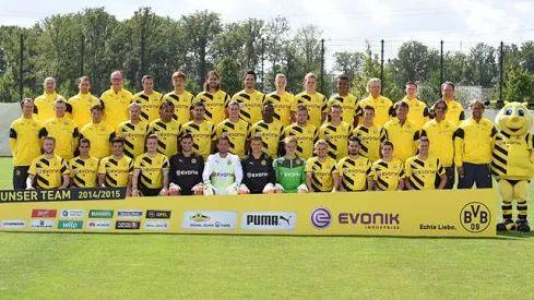Foto: BvB Kader Saison 2014 / 2015