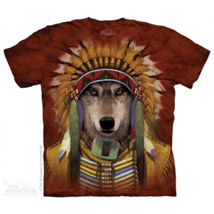 Tricouri The Mountain – Tricou Wolf Spirit Chief