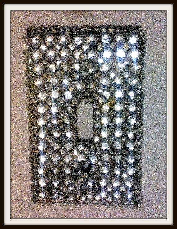 Hollywood Glam Light Switch Cover. $12.00, via Etsy.