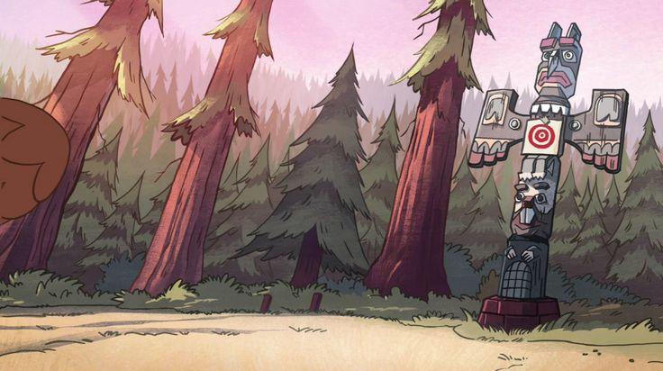 Gravity Falls S1E5 Background Art