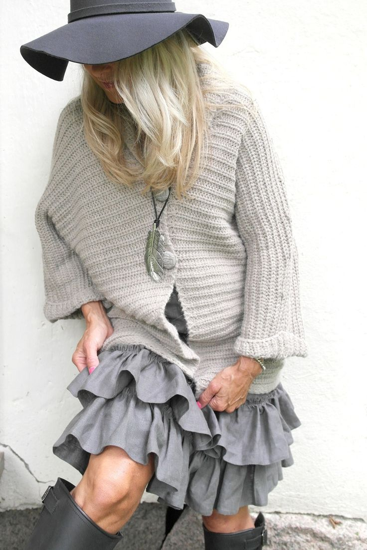 BYPIAS Linen Skirt With Frill / @bypiaslifestyle www.bypias.com