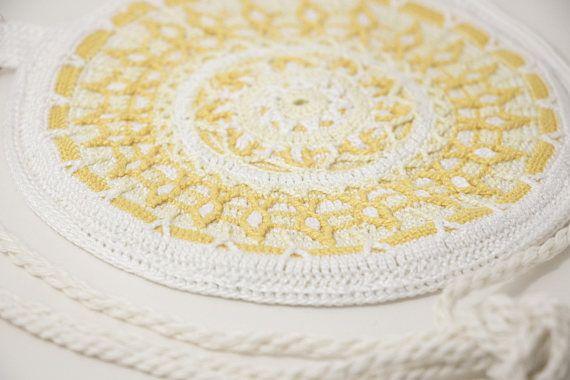 Women's Crossbody Bag / Handmade Crochet Shoulder Bag /