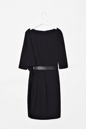 Belted drape dress, COS  This is the most perfect dress I've seen in a very long time. <3