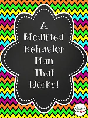 Education to the Core: A Behavior Plan That Works!