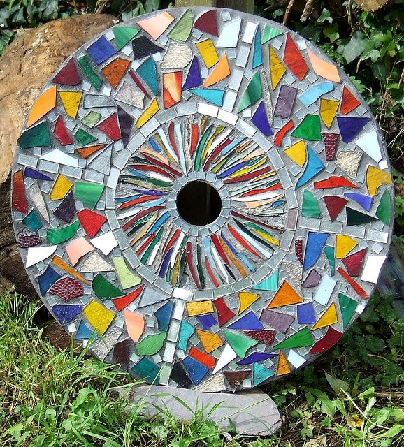 974 best round mosaics images on pinterest mosaic art mosaic mosiac garden ornament by glowing sunsets via flickr workwithnaturefo
