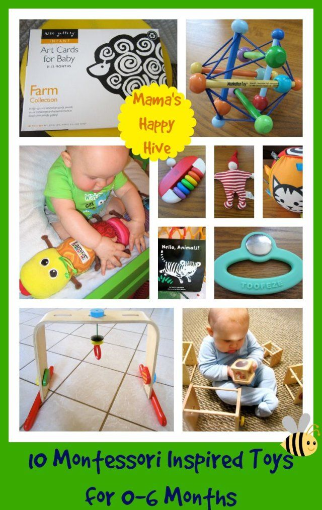 10 Montessori Inspired Toys for 0-6 Months. Visit for a brief review of each toy.