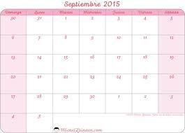 Resultado de imagen para calendario septiembre 2015 imprimir