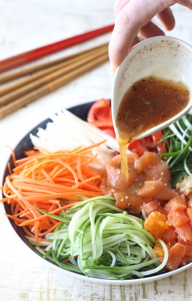 Chinese New Year Prosperity Salad recipe by SeasonWithSpice.com @season