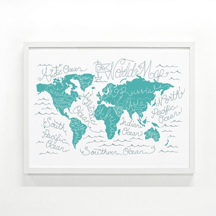 Monorail's World Map Print is a beautiful piece of decor that only fuels our desire to travel more—it looks right at home hanging in a study, bedroom or even a nursery. About the Makers: Daniella Valerio and Sandrine Molnar know a thing or two about doing things by hand. From inside their Austin-based studio, they draw, screenprint and work on woodcuts with their four ink-stained hands. Monorail Studio is a labor of love and these printers wouldn't have it any other way.