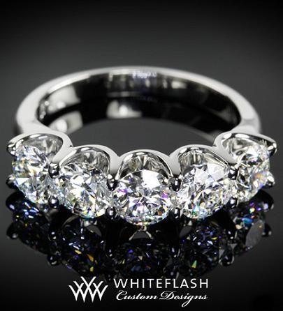 62 Best 5 Stone Diamond Ring Settings Images On Pinterest