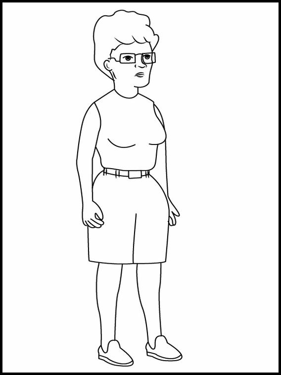 King Of The Hill 5 Printable Coloring Pages For Kids Coloring