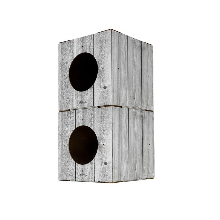 2 Pack Wood Print Cat Box