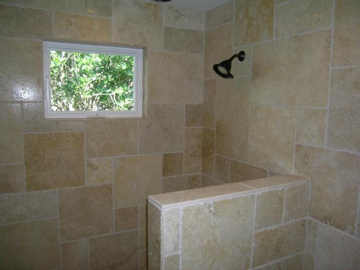 French Pattern Chiseled Edge Travertine Shower My