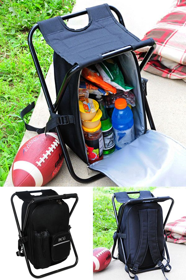 Looking for a gift for groomsmen who love sports and tailgating? This collapsible backpack cooler chair is equipped for packing, carrying and relaxing. Enjoy all your outdoor activities to the fullest when you sport this dual purpose backpack cooler and chair. When play time is over, simply fold this cooler and chair combo flat for easy storage.