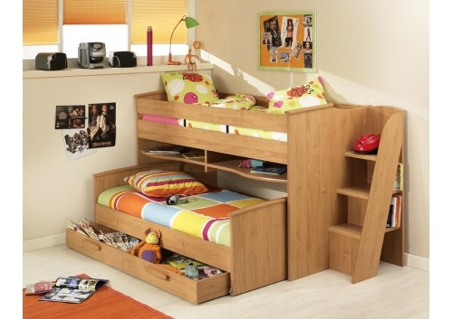 Gami Montana Cabin Bed with Guest bed and Additional storage drawer