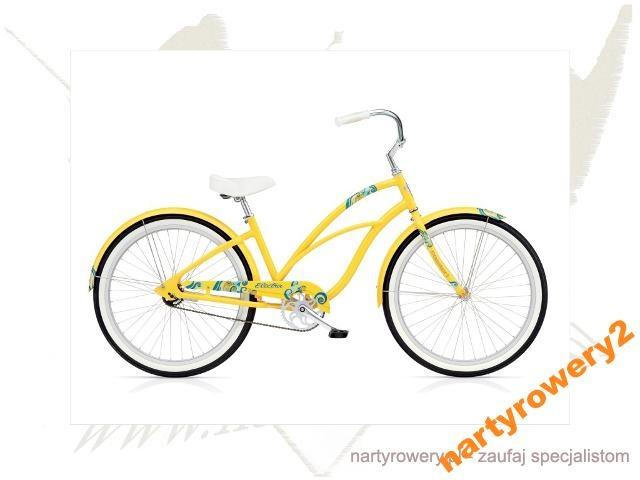 Rower Electra Coaster 1 żółty 2013 GRATISY!! Cz-wa