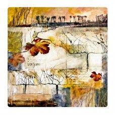 Absztrakt őszi falevelek falikép