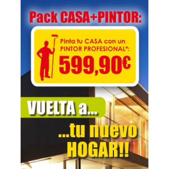 PACK CASA+PINTOR Hasta 80 m2 a 2 capas.  Alto Maresme y Costa Brava Sur. www.totpint.com/promociones