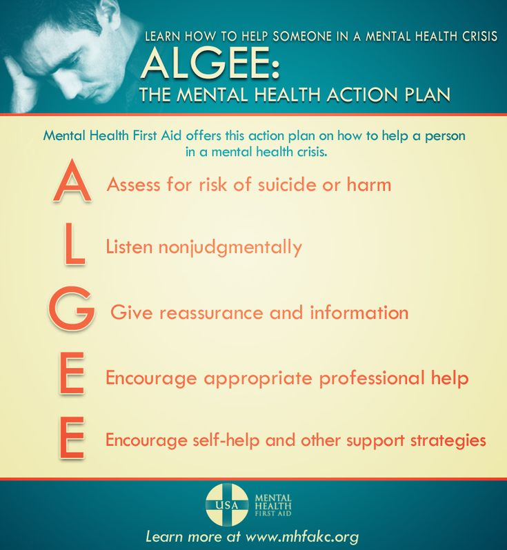 Mental Health First Aid action plan: ALGEE  MentalHealthKC.org