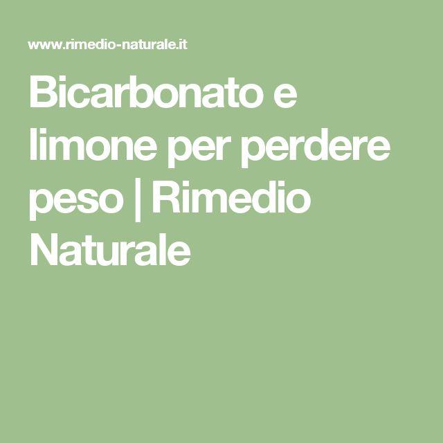 Bicarbonato e limone per perdere peso   Rimedio Naturale