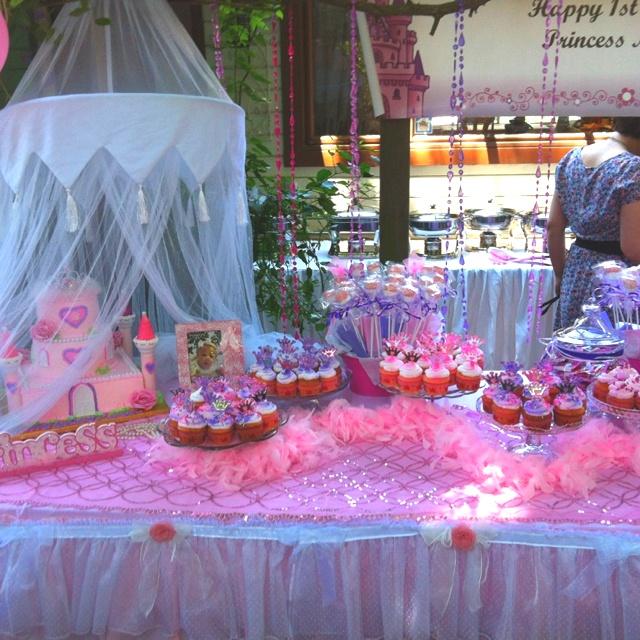 Princess Castle Cake & Sweet Table