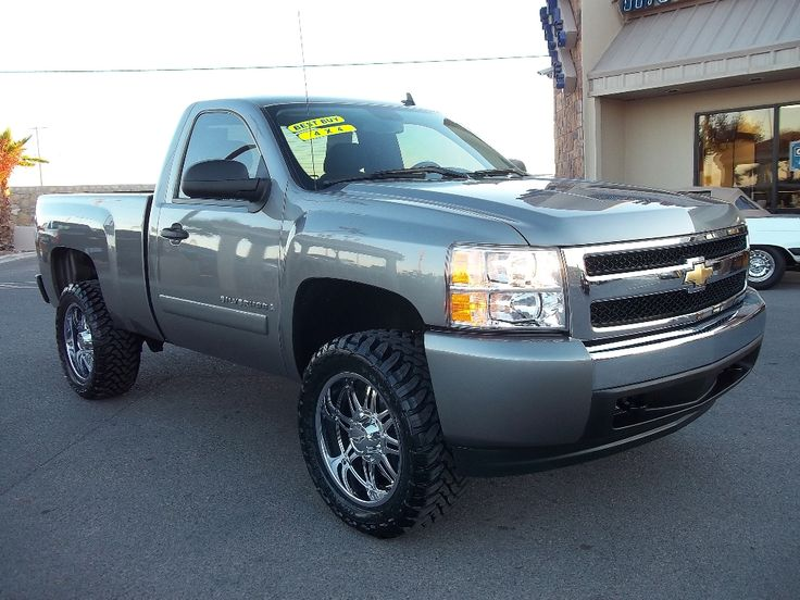 My new dream truck. 08 Silverado LT 4x4 Single Cab with lift and disgusting tires and rims.