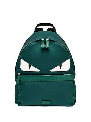 Fendi Monster green nylon Backpack