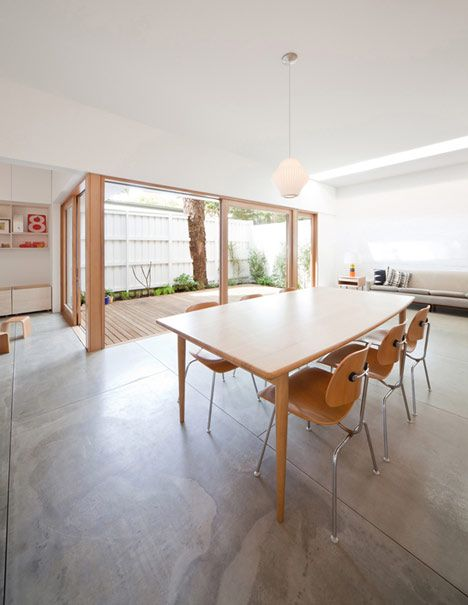 House Eadie by Tribe Studio. Great renovation - the floor is fibre cement sheet. << the floor!
