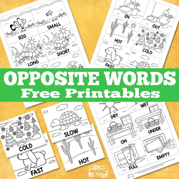Opposite Printables (free; from Itsy Bitsy Fun)