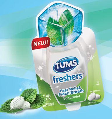 Free Sample of TUMS Freshers in Spearmint - Sweet Pea Savings