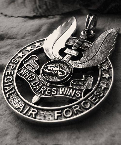 Dad..........Who Dares Wins Special Air Service pin You dared and you won - love you, miss you xox
