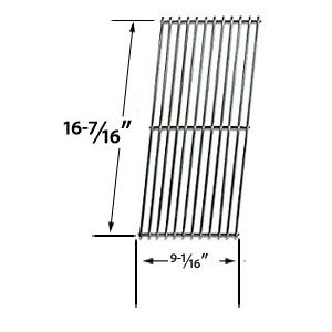 STAINLESS STEEL REPLACEMENT COOKING GRIDS FOR CHARGRILLER 2001, 2020 AND VERMONT CASTINGS CF9050, CF9055 3A, CF9055 3B, CF9056, CF9080, CF9085, CF9085 3A, CF9085 3B, CF9086, EXPERIENCE, EXTREME BUILT-IN GAS GRILL MODELS
