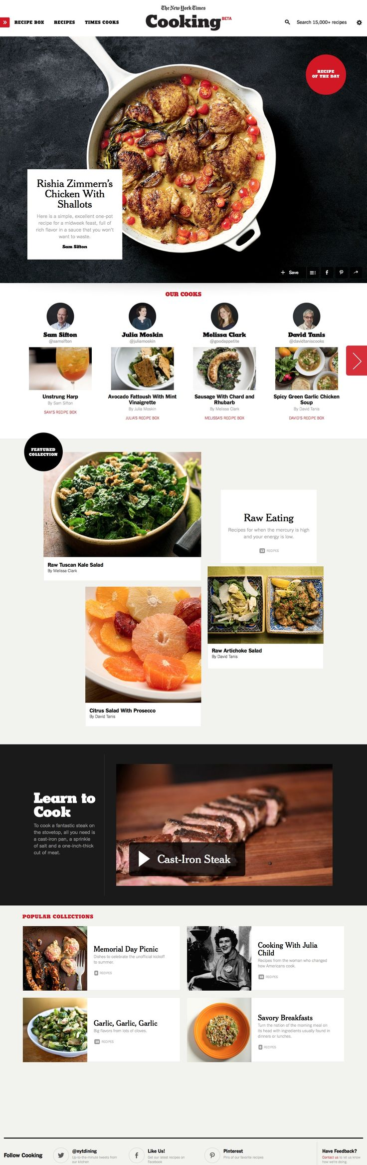New York Times Cooking Website Design #webdesign #website #design