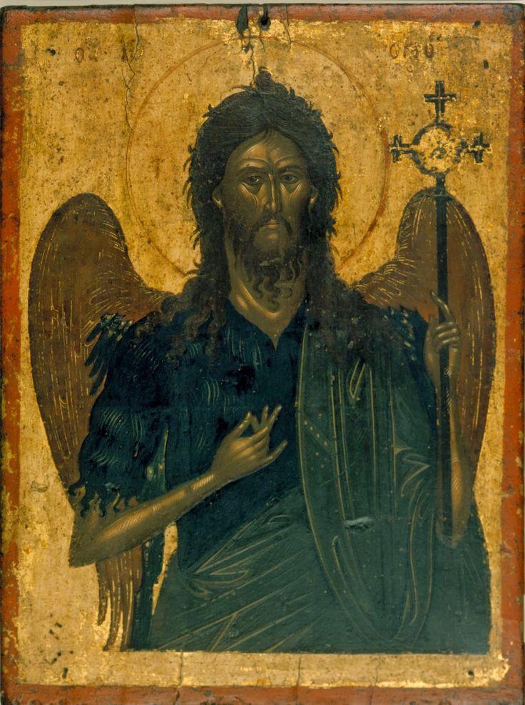 St. John the Baptist, anonymous Cretan painter, ca. 1600, from the Benaki Museum