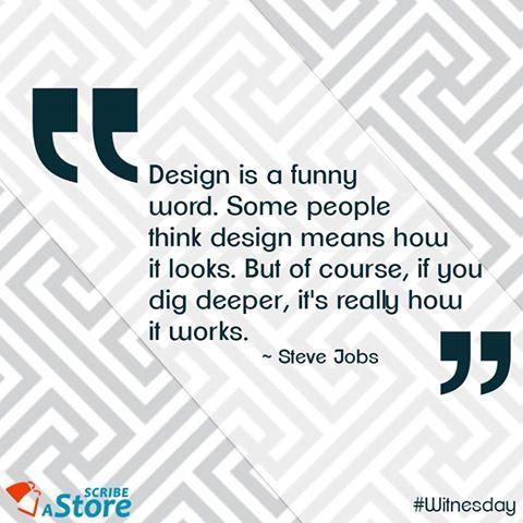 Here is Steve Jobs's philosophy on #Design. #WednesdayWisdom #Witnesday