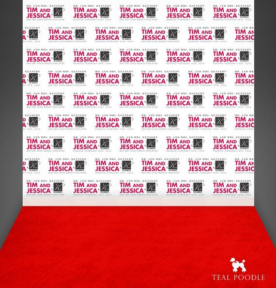 Custom Wedding Step And Repeat Backdrop For Red Carpet