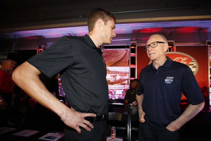 Mark Martin through the years  Monday, January 9, 2017  Freshly minted NASCAR Hall of Fame selectee Mark Martin was back at the track in May as pace car driver for the Coca-Cola 600 at Charlotte Motor Speedway. He chatted with David Ragan at the driver meeting before the May 29 race.  Photo Credit: Getty Images  Photo: 2 / 16