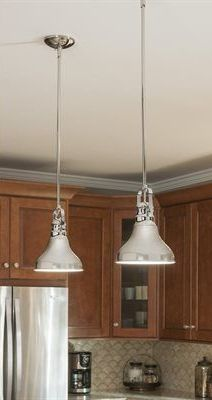 Polished Nickel Mini Pendant Light With Metal Shade To Accent Lighting  Wherever You Need To Brighten