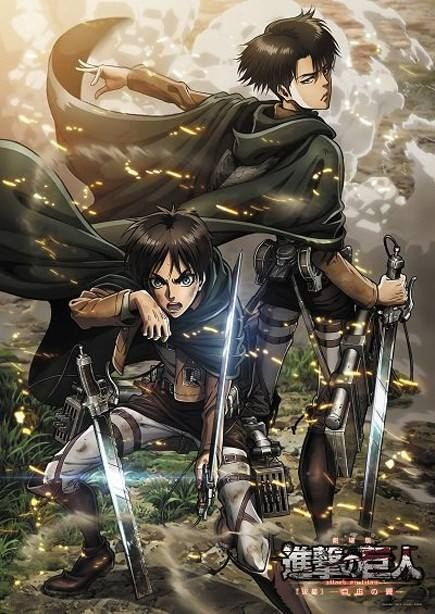 Look at levi tho. Hes like 'psh, Im not here for the titans. Im here for the fashion, Oh mah gawd. These capes are FANTASTIC.'