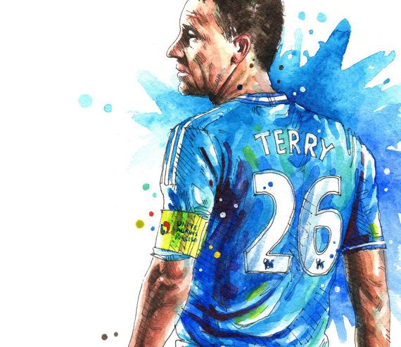 John Terry Chelsea FC A3 Wall Art Print Poster of the by NazarArt