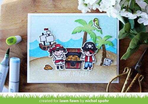 Nichol Spohr LLC: Lawn Fawn Summer Release May Inspiration Week | Ahoy, Matey Pop Up Card (video)