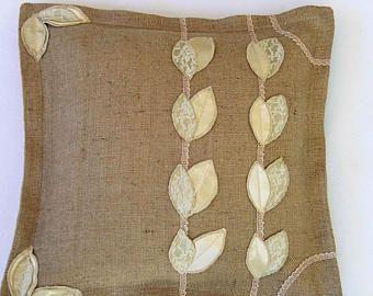 Burlap Decorative Pillows burlap pillow covers Decorative Throw Pillow shabby chic pillow pillow farmhouse pillow case