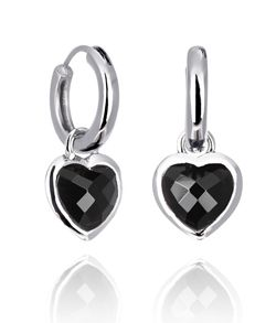 BLACK LOVE DROP (medium earrings)