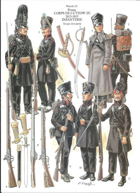 Prusse - corps de Lutzow - infanterie, by Patrice Courcelle.