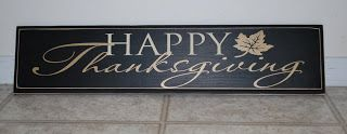Cher's Signs by Design: Happy Thanksgiving Sign